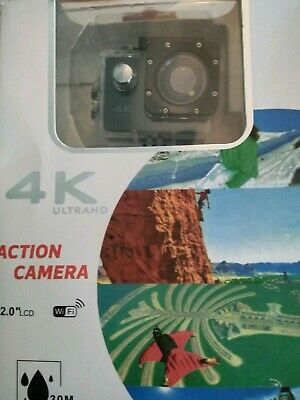 4K Action Camera, 16MP WiFi Ultra HD Underwater Waterproof 30M Sports Camcorder