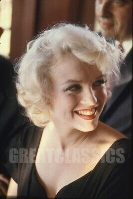 Marilyn Monroe 1958 Beverly Hills Hotel Party Color Vintage Transparency
