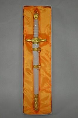 """14"""" Fantasy Double Edged Blade Medieval Dagger Stainless Steel"""