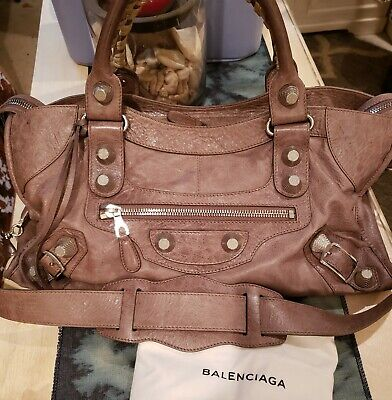 95b1c8b3bc Authentic Balenciaga Agneau Giant City Bag in Noix with Giant 21 Silver F/W  2009