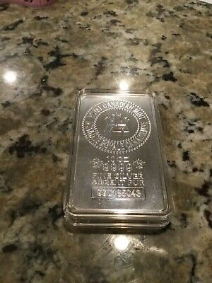 10 Oz Royal Canadian Mint Silver Bar .9999 Fine Silver Bullion - NO RESERVE