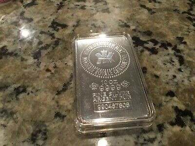 10 Oz Royal Canadian Mint Silver Bar .9999 Fine Silver Bullion 990487808