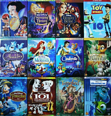 Pick Any 4 Disney DVDs:Aladdin,Snow White,Sleeping Beauty,Pinocchio,Lion King...