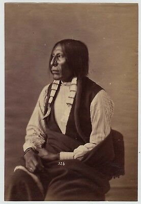 WM. HENRY JACKSON(attr): NATIVE-AMERICAN INDIAN * RARE 1870s LARGE ALBUMEN PHOTO