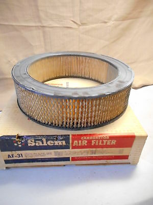 2 Salem AF31 Air Filters NOS, 1966, Chevelle, Chevy II, Tempest, 1554030 1554702