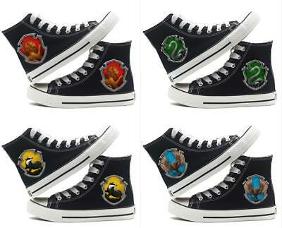 Harry Potter Hogwarts Canvas Shoes High Top Flat Unisex Lovers Causal Shoe