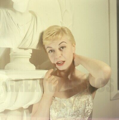 GIULIETTA MASINA YOUNG BEAUTIFUL 1960s 2 1/4 CAMERA TRANSPARENCY PETER BASCH