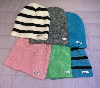 Neff Beanies Bundle Pack of Two Beanie One Size Red and Gold
