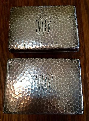 (2) - Fantastic 1873 Tiffany & Co. Sterling Silver Boxes, Hand Hammered