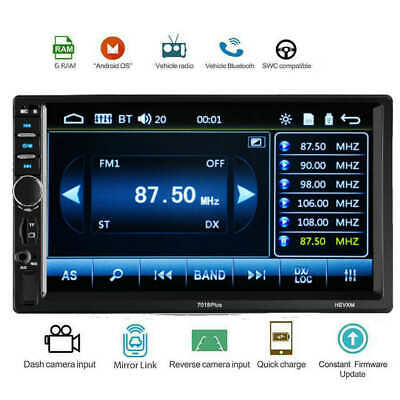 7inch HD 2Din Touch Screen Car Stereo MP5 Player Radio Android USB/TF+Camera