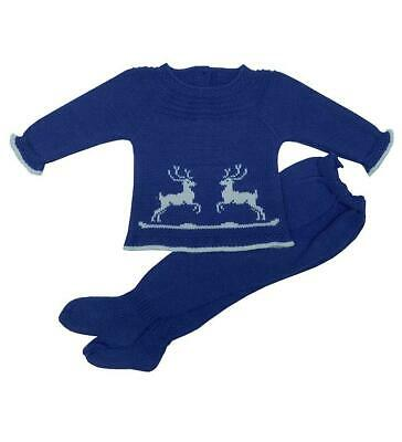 Newborn Reindeers Knitted Set. Made in Spain.