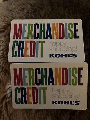 Kohl's merchandise credit gift card $39.66 (Physical Card) Free Shipping