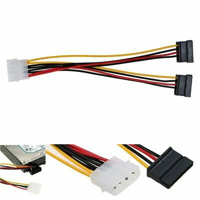 10x Pack Lot of 4 Pin Molex to Dual 3.5 Floppy Berg Power Adapter Cable Splitter