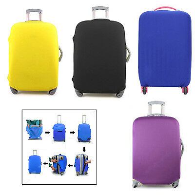 """18-20"""" Yellow Elastic Luggage Suitcase Cover Protective Bag Dustproof Protector"""