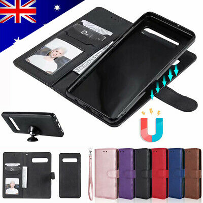 For Samsung S10 5G A20/A30/A50/A70 Removable Slim Leather Flip Wallet Case Cover