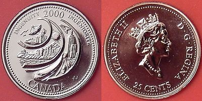 Proof Like 2000 Canada Ingenuity 25 Cents From Mint's Set