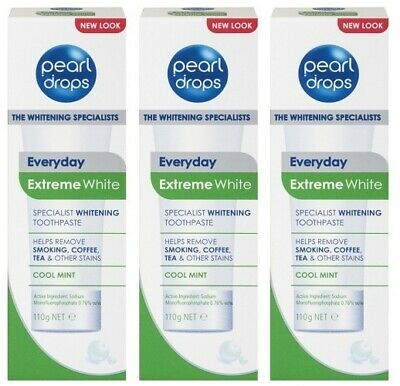 3 x Pearl Drops Everyday Extreme White Toothpaste 110g Teeth Whitening