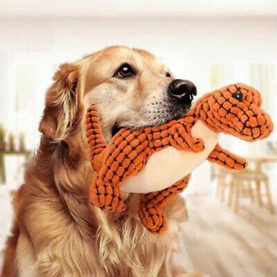 Sound Toys Tough Dinosaur Pet Dog Puppy Chew Knot Play Squeaker Squeaky Plush UK