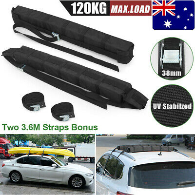 2X Car Roof Rack Soft Rack Luggage Cargo Skiing Snowboard Kayak Travel Support