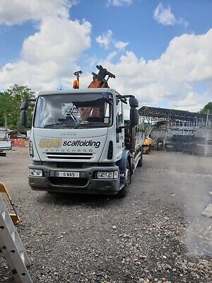 Iveco 18 Tonne Flatbed Lorry With Crane 2007 Plate