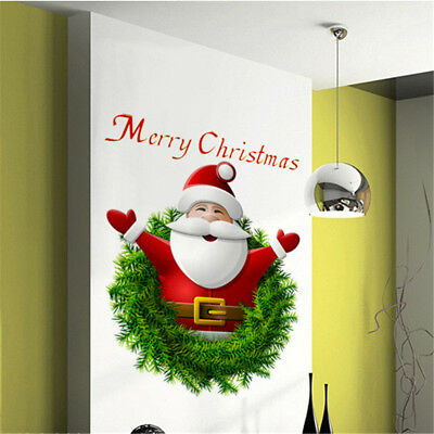 Santa Claus Christmas Wall Stickers Wall Decal Removable Art Popular Wall Decor