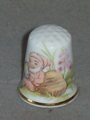 Fingerhut Thimble Porzellan Bone China British Made - Motiv Zwerg