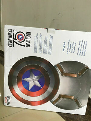 Marvel Captain America Metal Shield 75th Anniversary Cosplay Prop Free Fast Gift