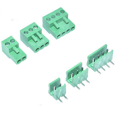 Green HT3.96MM 2P/3P/4P/5P/6P/8P HT3.96 Male+Female Terminal Blocks Connector