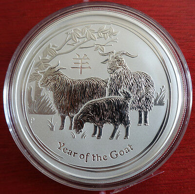 "2 oz Lunar II silver coin 2015, Goat "" very rare ""  from sealed roll"