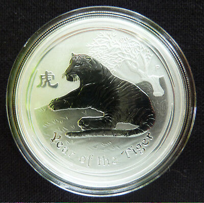 "5 oz Lunar II silver coin 2010 Year of the Tiger"" very rare """