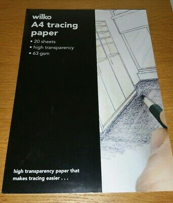 63gsm A4 Tracing Paper Translucent Craft Copying Calligraphy Drawing Sheet Wilko