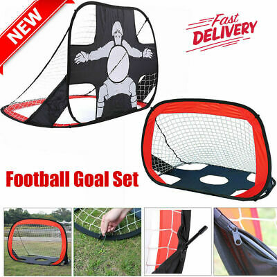 Kickmaster Quick Up Football Soccer Portable Goal And Target Shot Large 2 In 1