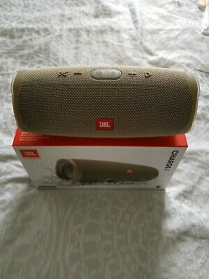 JBL Charge 4 Bluetooth Speaker RARE Sand Colour Used To Test