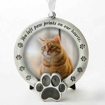 Pet Memorial Ornament ~ You left paw prints on our hearts