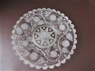 Antique Victorian  Decorative Glass -  Cabinet  Plate / Cake Plate