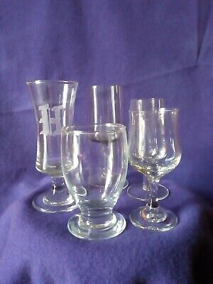 Vintage/Retro Luquire/Sherry Glasses(5) Items Job Lot/1v.beautifull smoky glass