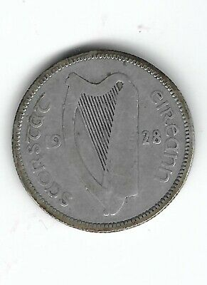 1928 Ireland Silver One Shilling Coin