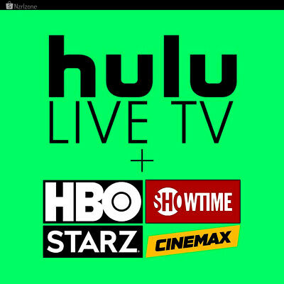 Hulu Premium | ShowTime Live TV,HBO,Cinemax,STARZ ADD-ONS | 1 Year Warranty