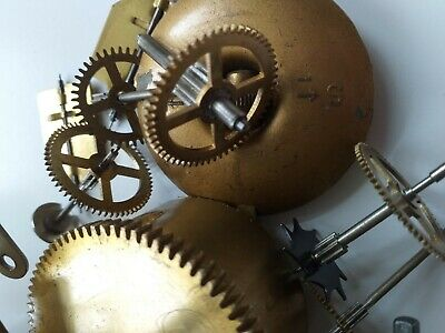 CLOCK  PARTS  , parts and pendulums from 5 mantel clocks inc Smiths & Bettina