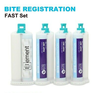 Element BITE REGISTRATION FAST Set 50ML Cartridges VPS PVS Dental Impression