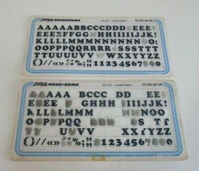 Vintage Letraset - Mecanorama Transfers - Rub Off Letters - 9.5 mm - France