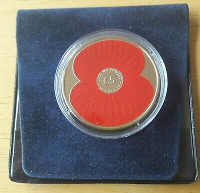 2012 POPPY £5 Five Pound Coin - Bailiwick of Jersey - BU 'Lest We Forget'