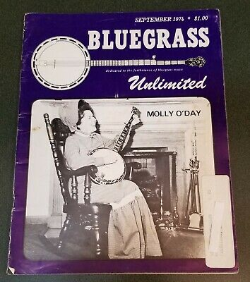 Molly O'Day cover Bluegrass Unlimited magazine September 1974