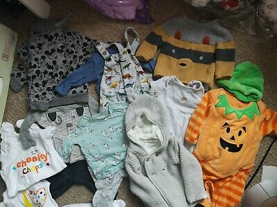 Large Bundle Baby Boy Clothes Jasper Conrad, H&M, F&F, Others 0/6 Months