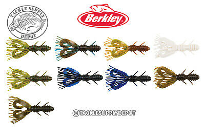 """Lot of 10-Great Color-Hard to Find Berkley Powerbait 4/"""" Twin Tail Spider Grubs"""