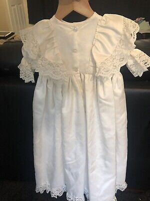 Vintage Style Baby Christening Gown Ivory Brushed Silk.  The Phoenix Collection
