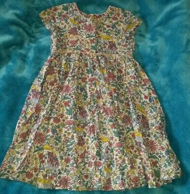 Beautiful John Lewis Bird Print Fully Lined Summer Dress Age 7 Excellent...