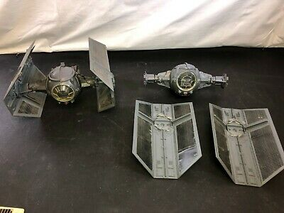 Vintage Star Wars Tie Fighter Ship LOT of 2 Darth Vader General Mills 1978