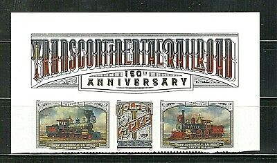 Sc # 5378-5380 ~ Header ~ Forever Issue, Transcontinental Railroad Issue (df17)