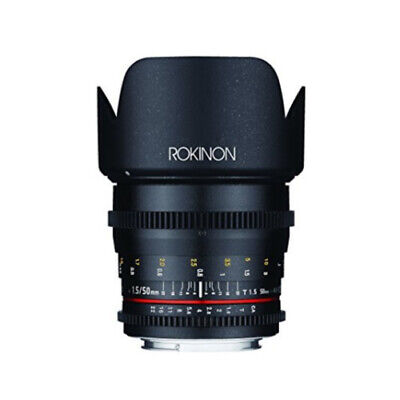 Rokinon 50mm T1.5 AS UMC Cine DS Lens for Canon EF Mount - DS50M-C